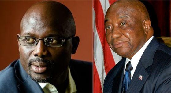 Liberia Présidentielle Weah Boakai