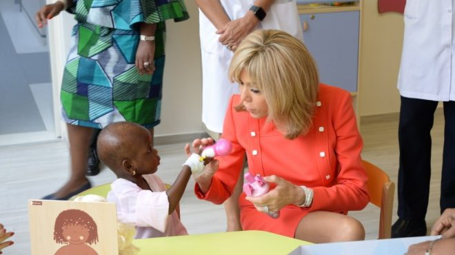 brigitte macron fondation children of africa cote ivoire