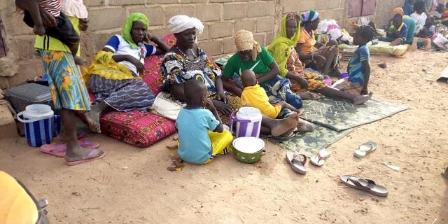 Déplacés au Burkina-Faso