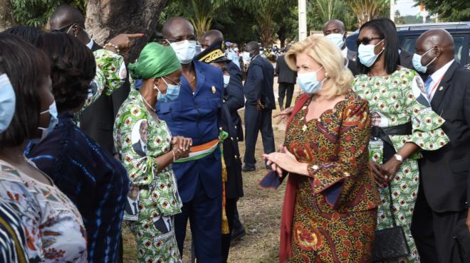 Cérémonie de don du FAFCI coordonné par Dominique Nouvian Ouattara